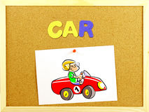 Car word on a corkboard Stock Photography
