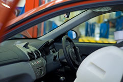 Car in workshop stock image