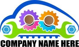 Car workshop logo. A vector drawing represents car workshop logo design royalty free illustration