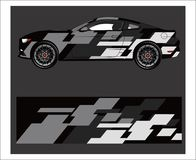 Free Car Wrap. Abstract Strip For Racing Car Wrap, Sticker, And Decal. Royalty Free Stock Photography - 136428537