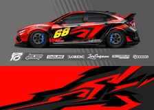 Abstract stripe racing background for wrap vehicle.