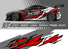 Free Car Wrap Decal Graphic Design. Abstract Stripe Racing Background Designs. Full Vector Eps 10 Stock Photos - 199418273