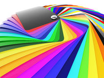 Car wrapping film color palette swatch. 3d render stock photography