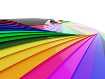 Car wrapping film color palette swatch. 3d render stock photos