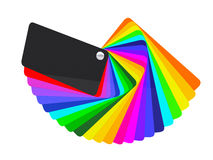 Car wrapping film color palette swatch. 3d render royalty free stock photography