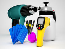 Car wrapping tools Stock Images