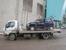 Car Wreck. After car accident Royalty Free Stock Images