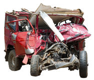 Car Wreck Accident Isolated Royalty Free Stock Photography