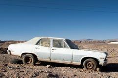 Car wreck on Atacama desert, Chile Stock Photo