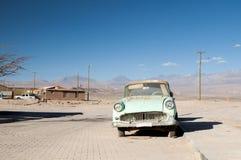 Car wreck on Atacama desert, Chile Stock Photos