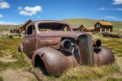 Car wreck in Bodie ghost town, California Stock Images