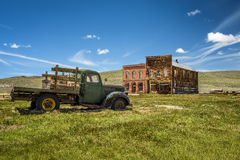 Car wreck in Bodie ghost town, California Royalty Free Stock Image