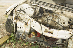 Car wreck crash crush die collision drunk damage fix loss Royalty Free Stock Photography