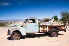 Car Wreck in the desert Royalty Free Stock Photos