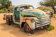 Desert Truck wreck. Truck wreck in the desert near Solitaire small town in the desert of Namibia Stock Photo
