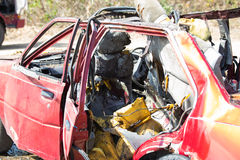 Car wreck from explosion Royalty Free Stock Photography