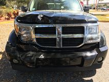 Car wreck. My car after being cut off by an inattentive Stock Image