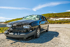 Crashed car Stock Images