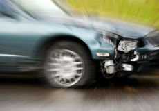 Car Wreck with Speed Royalty Free Stock Images