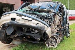 Car Wreck Texting Driver Royalty Free Stock Image