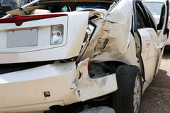 Car Wreck Texting Driver Stock Images