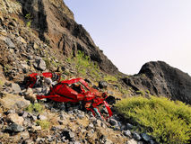 Car Wreckage. Lanzarote, Canary Islands, Spain Royalty Free Stock Photography
