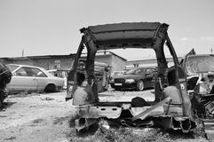 Car wreckage Royalty Free Stock Image