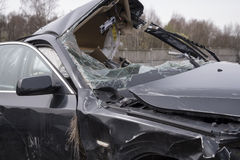 Car wrecked in an accident royalty free stock image