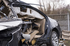 Car wrecked in an accident Royalty Free Stock Photography