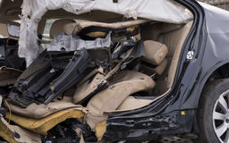 Car wrecked in an accident Stock Image