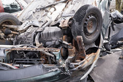 Car wrecked in an accident royalty free stock images