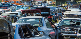 Car Wreckers Yard Stock Images