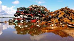 Car wreckyard Stock Photos