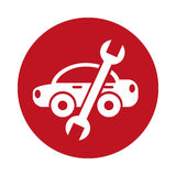 Car with wrench mechanic tool icon Stock Photos