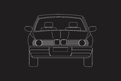 Car& x27; s前面 免版税库存图片