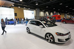 Car of the Year Award. Photo of the 2015 volkswagen golf at the washington dc auto show at the washington dc convention center on 1/24/15. This car won motor Stock Images