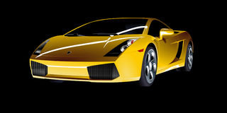 Car, Yellow, Sports, Vehicle Royalty Free Stock Photo