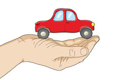 Car in your hand Royalty Free Stock Photography