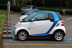 CAR2GO, Vancouver Rideshare Stock Images