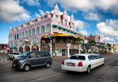 (Caraïbisch) Aruba - Huisbuitenkanten in Oranjestad royalty-vrije stock fotografie