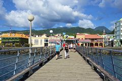 Caraïbisch Dominica, stock afbeelding