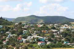Caraïbisch Dorp royalty-vrije stock foto's
