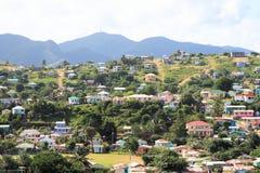Caraïbisch Dorp royalty-vrije stock foto
