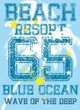 Caraïbisch eiland vectorart. Royalty-vrije Stock Foto's