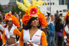 Caraïbisch festival Carnaval in Rotterdam Stock Afbeelding
