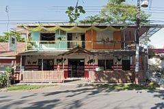 Caraïbisch huis in Puerto Viejo, Costa Rica stock fotografie