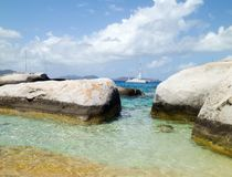Caraïbisch panorama Royalty-vrije Stock Foto's