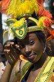 Caraïbisch schoonheidsmeisje bij de Notting-Heuvel Carnaval stock afbeelding