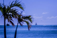 Caraïbisch St Maarten schip Stock Fotografie