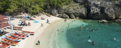 Caraïbisch strand Playa Lagun Curacao Royalty-vrije Stock Foto's